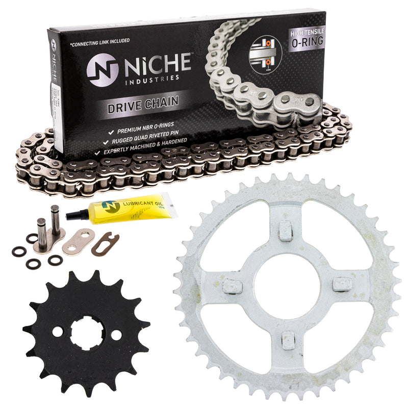 Drive Chain and Sprocket Kit for zOTHER Yamaha Suzuki Honda XR100R XL100S CRF125FB CRF100F NICHE MK1004317