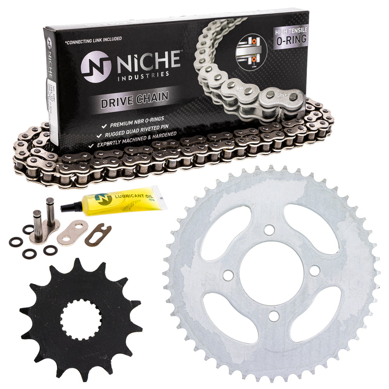 Drive Chain and Sprocket Kit for Suzuki Kawasaki 27511-13700 92057-0658 NICHE MK1004397