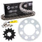 Drive Chain and Sprocket Kit for Yamaha Kawasaki KX100 13144-0564 93812-13812-00 NICHE MK1004431