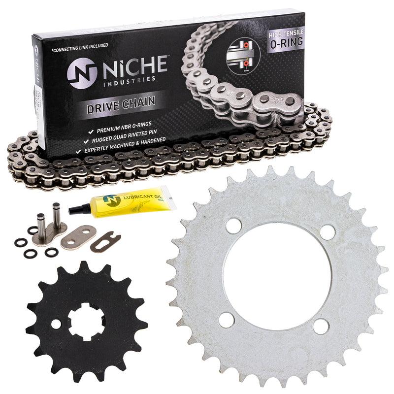Drive Chain and Sprocket Kit for Yamaha PW80 4BC-25432-50-00 93812-15063-00 9Y580-52083-00 NICHE MK1004543