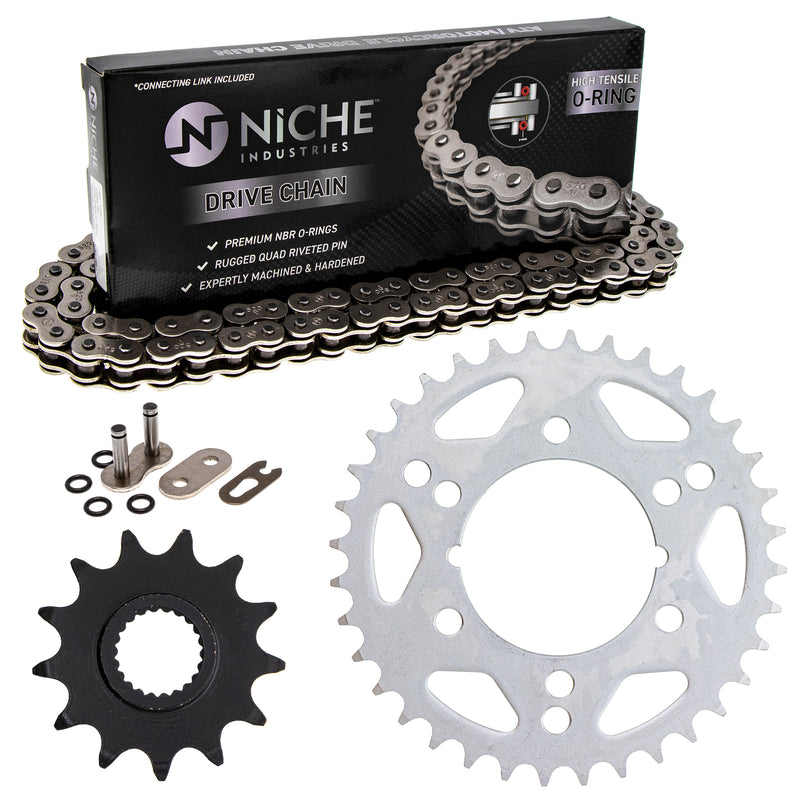 Drive Chain and Sprocket Kit for zOTHER Xplorer Trail-Blazer Scrambler 519-KCS1024K-K001 NICHE MK1004552