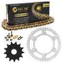 Drive Chain and Sprocket Kit for Yamaha YZ125 9383A-13031-00 1C3-25448-00-00 NICHE MK1004597