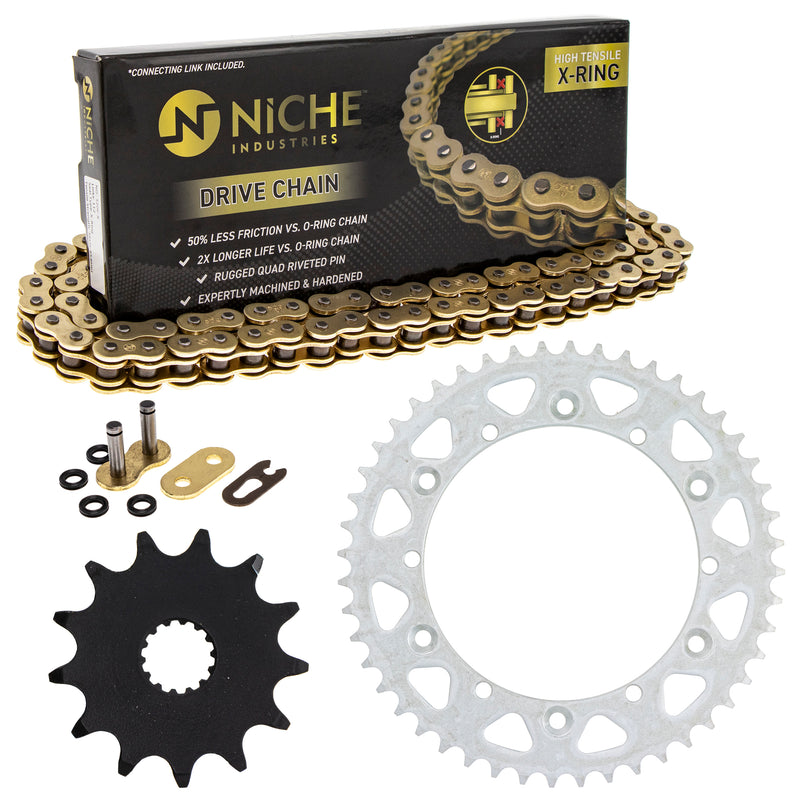 Drive Chain and Sprocket Kit for Yamaha YZ125 9383A-13031-00 9Y582-36111-00 9Y582-28111-00 NICHE MK1004599