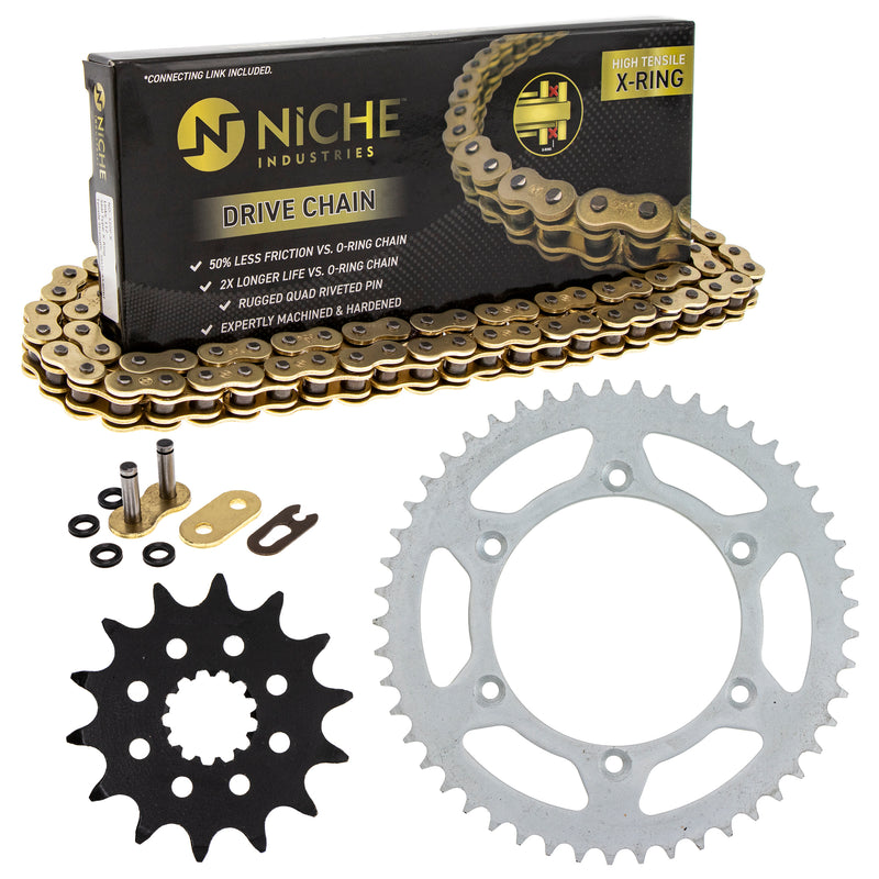 Drive Chain and Sprocket Kit for 110811446 110795159 110786756 110780889 YZ400F YZ250 NICHE MK52011407