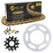 Drive Chain and Sprocket Kit for Kawasaki RR 92057-0192 92057-0740 92057-0710 92057-0695 NICHE MK1004645