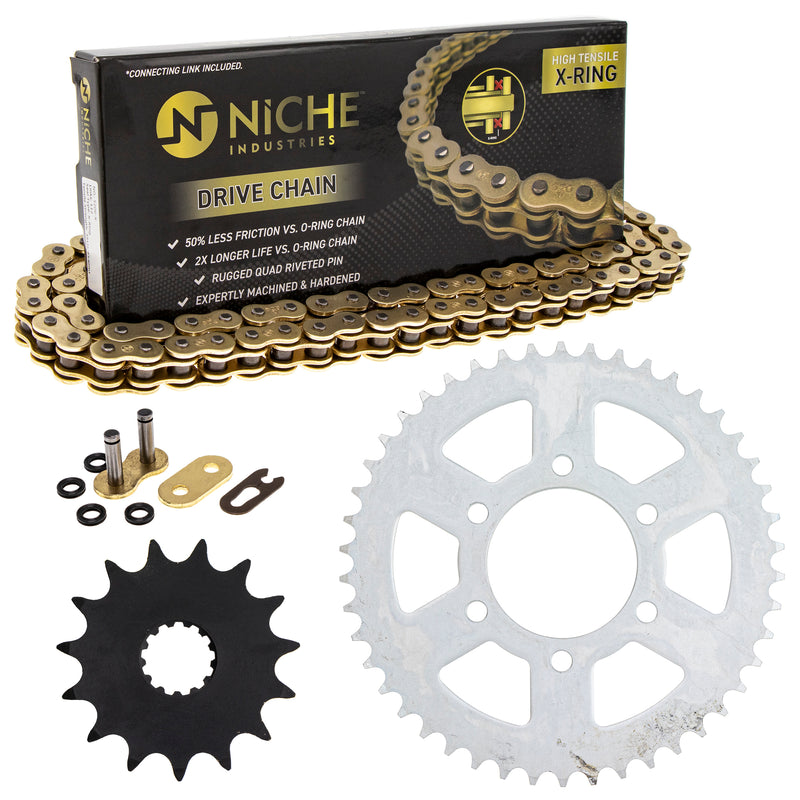Drive Chain and Sprocket Kit for 251992803 251921945 251921705 251898884 251836632 NICHE MK52011436
