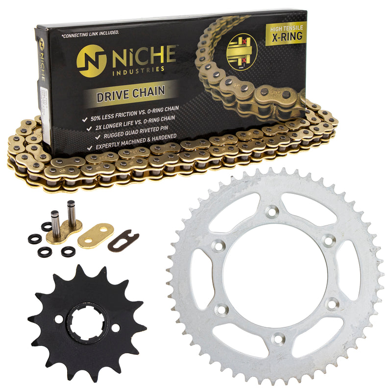 Drive Chain and Sprocket Kit for zOTHER Honda CR250R 23802-467-000 23803-430-000 NICHE MK1004675