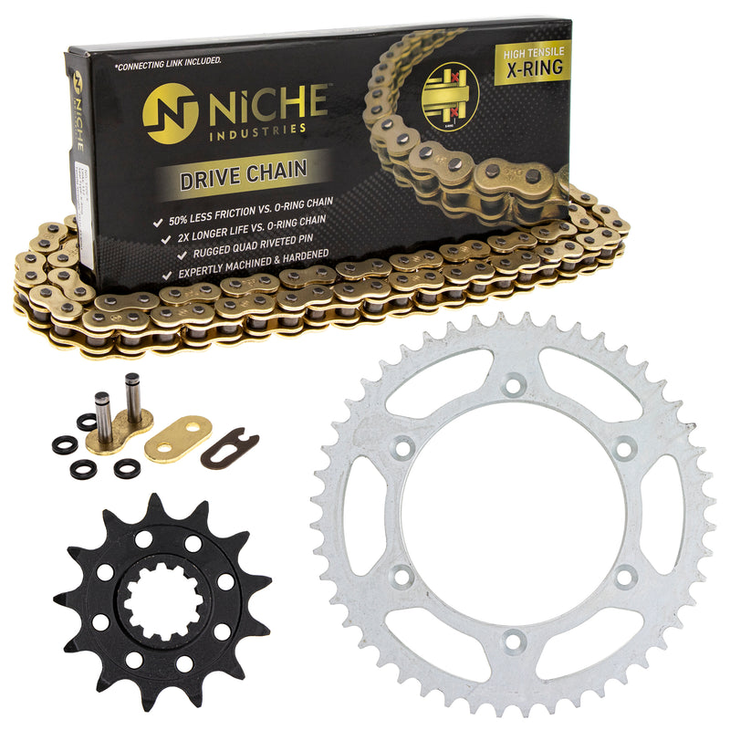 Drive Chain and Sprocket Kit for Suzuki Honda WR250 64511-41521 41201-MKE-A70 NICHE MK1004679