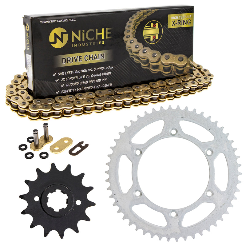 Drive Chain and Sprocket Kit for 110835888 110829548 110783862 RM400 RM250 NICHE MK52010813