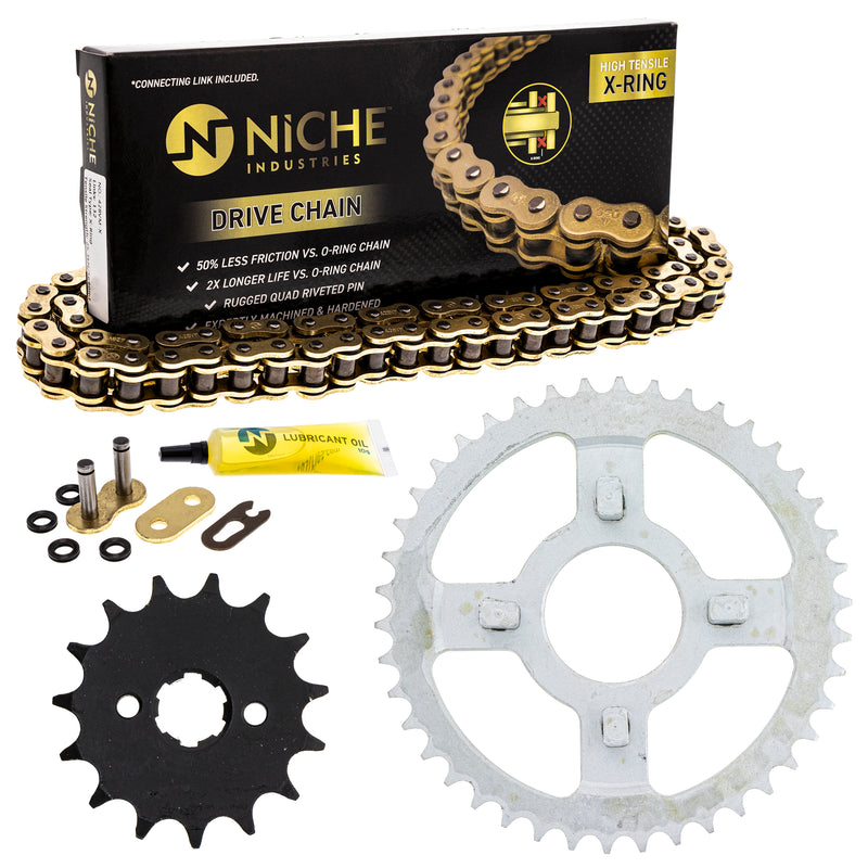 Drive Chain and Sprocket Kit for zOTHER Yamaha Suzuki Honda XR100R XL100S CRF125FB CRF100F NICHE MK1004842
