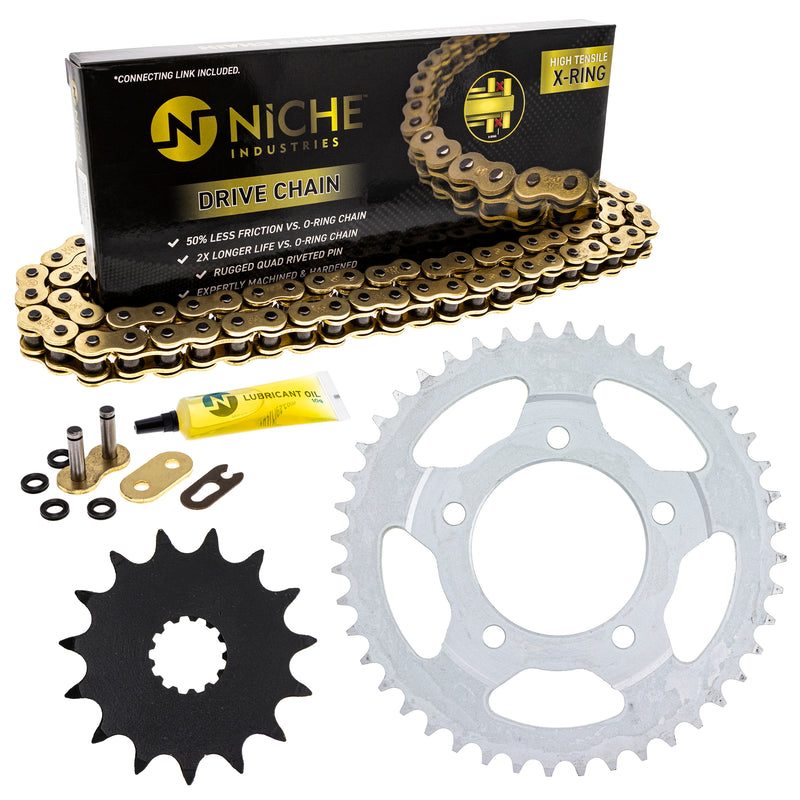 Drive Chain and Sprocket Kit for zOTHER SV650S SV650A SV650 519-KCS1324K-K001 NICHE MK1004852