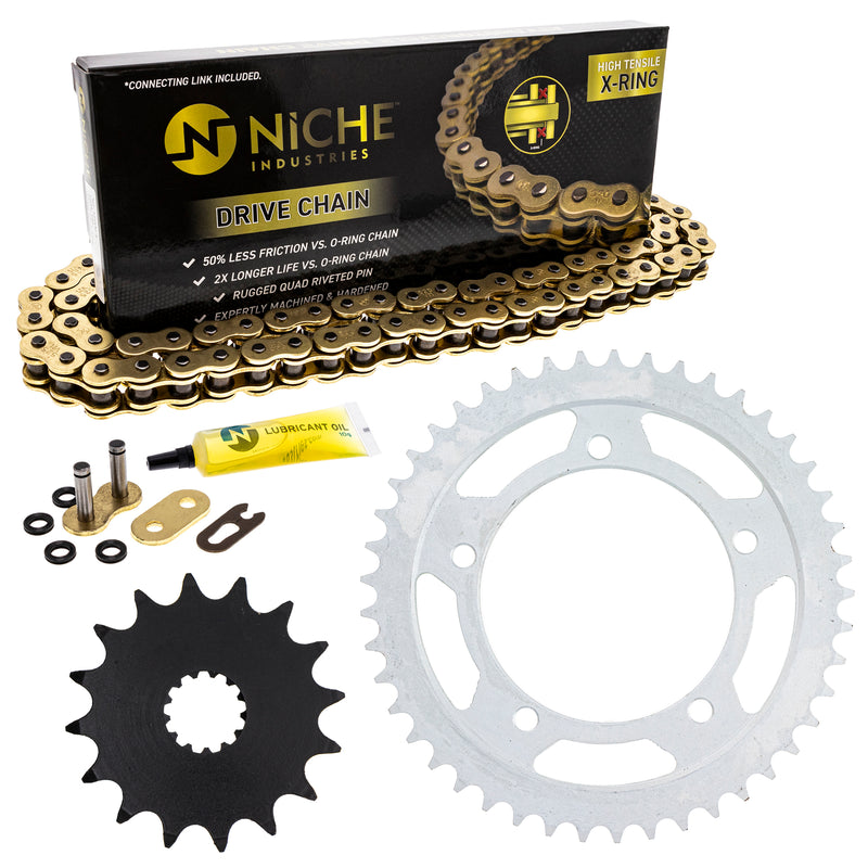 Drive Chain and Sprocket Kit for 110842338 110794725 110779919 110778845 110774659 GSXR600 NICHE MK52511003