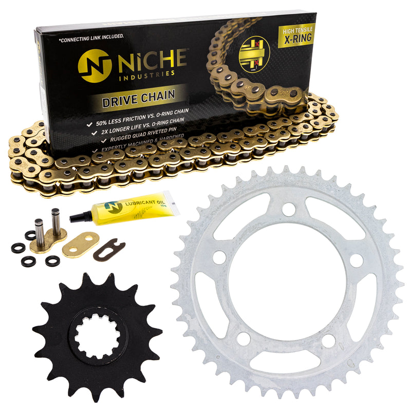 Drive Chain and Sprocket Kit for 143737163 143685735 CBR600F3 NICHE MK52511015
