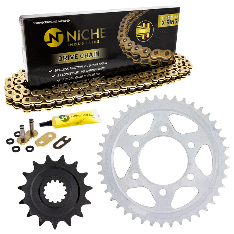 Drive Chain and Sprocket Kit for 177670123 143737543 143681722 110779332 110748014 Z1000 NICHE MK52511203