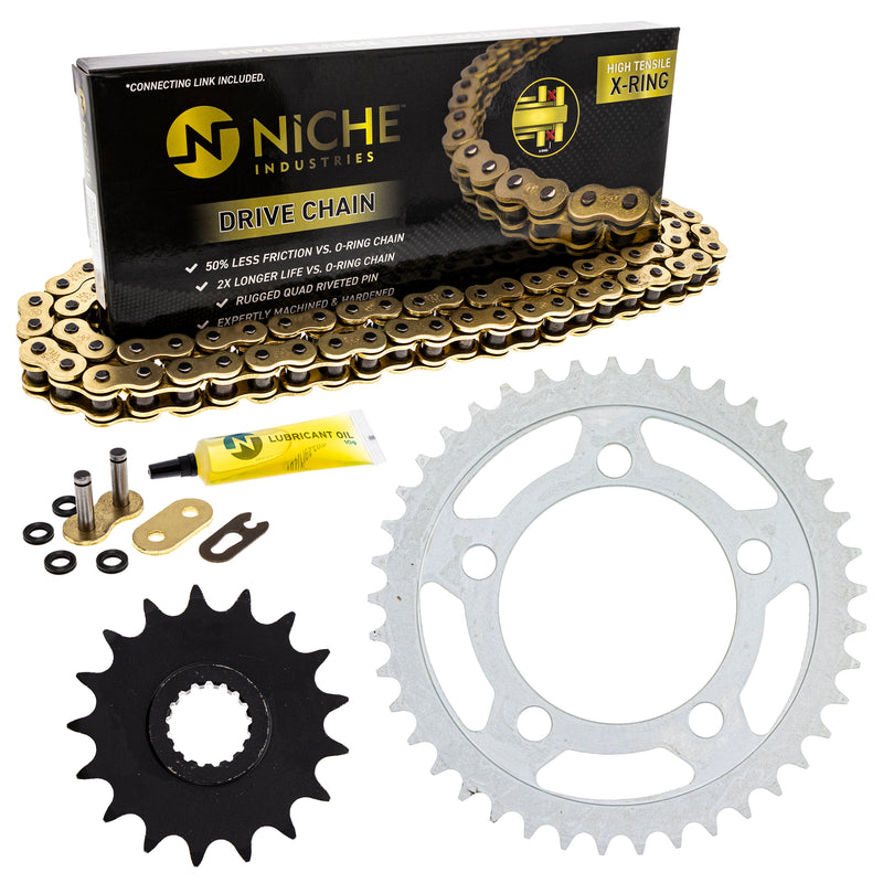 Drive Chain and Sprocket Kit for zOTHER 990 950 519-KCS1357K-K001 NICHE MK1004885