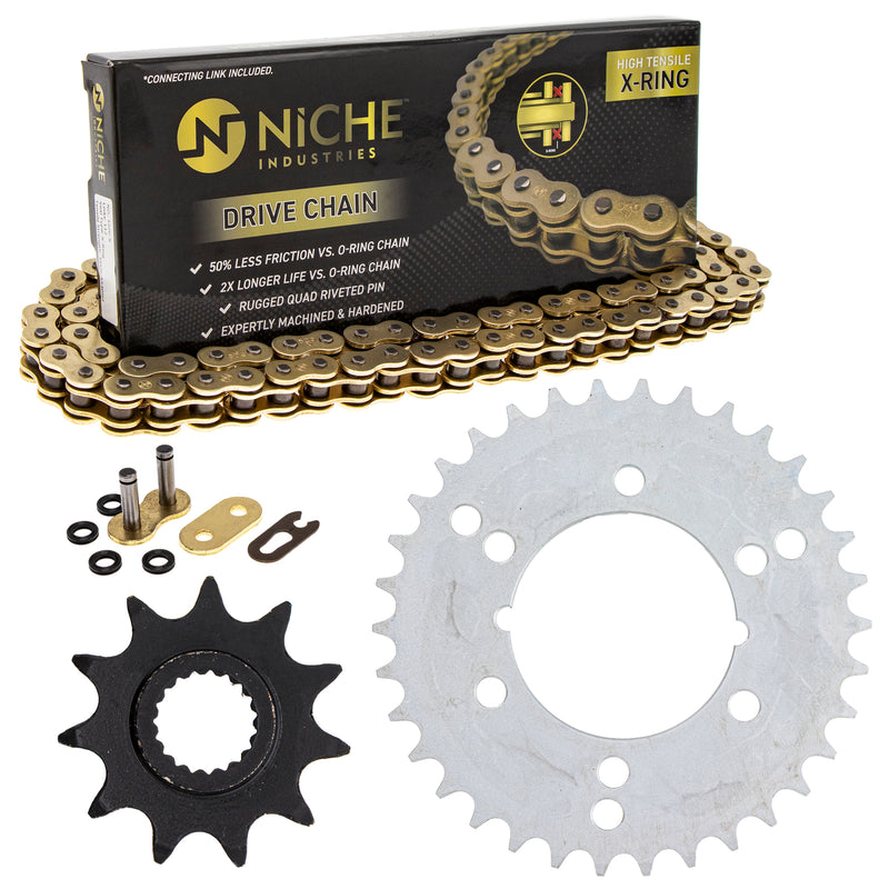 Drive Chain and Sprocket Kit for 203811328 203759563 203725369 203705005 203660171 Xplorer NICHE MK5207001