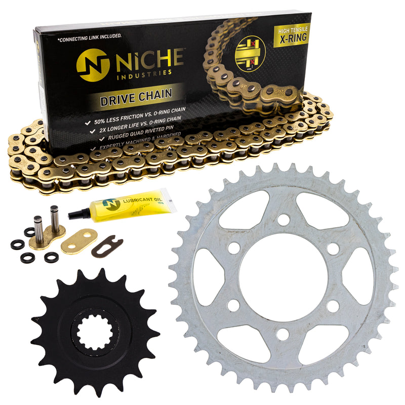 Drive Chain and Sprocket Kit for zOTHER Ninja 519-KCS1372K-K001 NICHE MK1004900