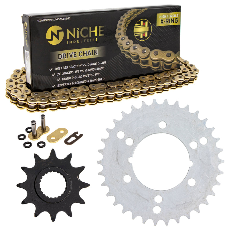 Drive Chain and Sprocket Kit for 203759563 203759423 203736457 203698485 203660171 NICHE MK5208403