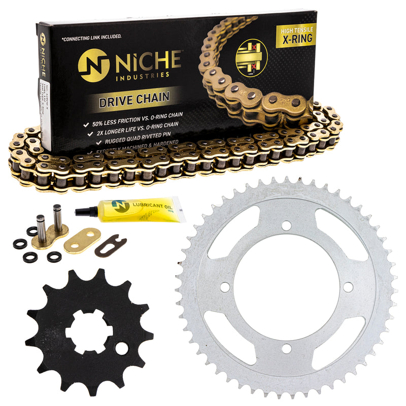 Drive Chain and Sprocket Kit for 229237915 218947626 210817703 177697628 177646937 NICHE MK42813001