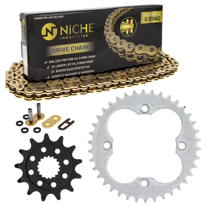 Drive Chain and Sprocket Kit for zOTHER TRX450R TRX450ER 519-KCS1429K-K001 NICHE MK1004957