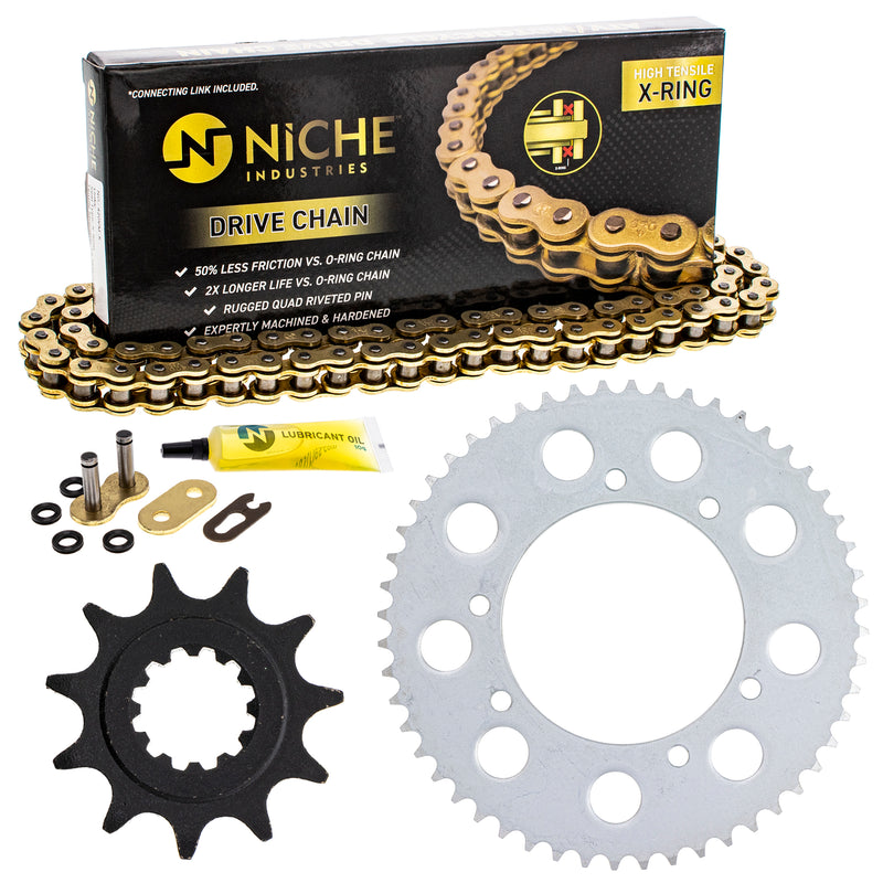 Drive Chain and Sprocket Kit for Honda CRF150RB CR80RB 40530-KSE-841 40530-GBF-811 NICHE MK1004968