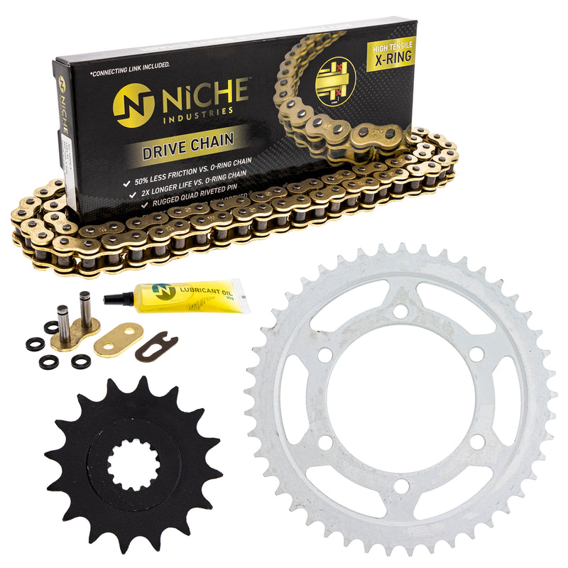 Drive Chain and Sprocket Kit for zOTHER YZF 519-KCS1462K-K001 NICHE MK1004990