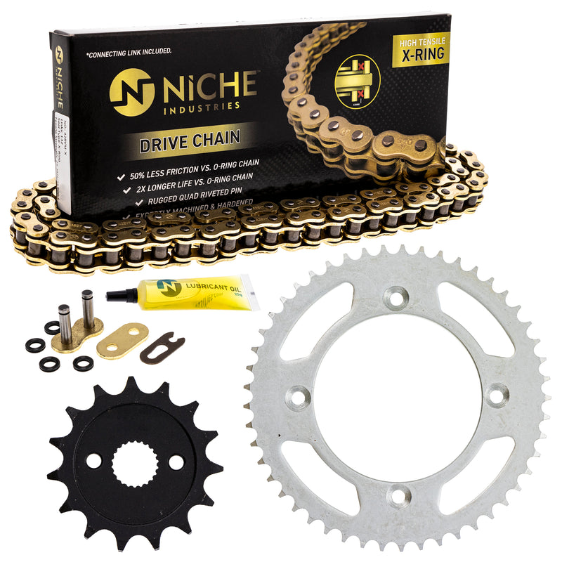 Drive Chain and Sprocket Kit for zOTHER Yamaha Honda CR85R CR80R 9Y581-97115-00 NICHE MK1005022