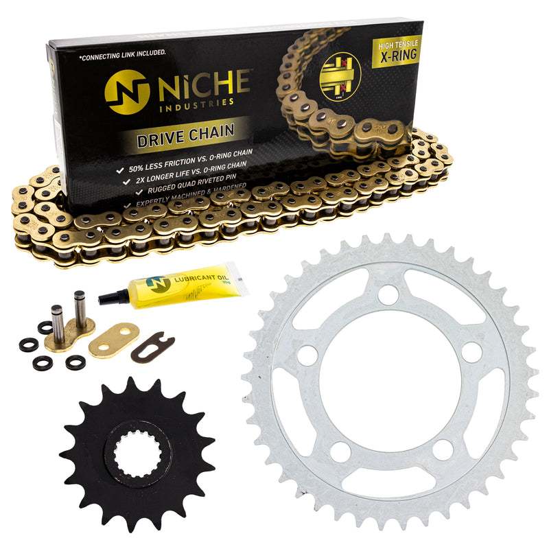 Drive Chain and Sprocket Kit for zOTHER 990 950 519-KCS1503K-K001 NICHE MK1005031