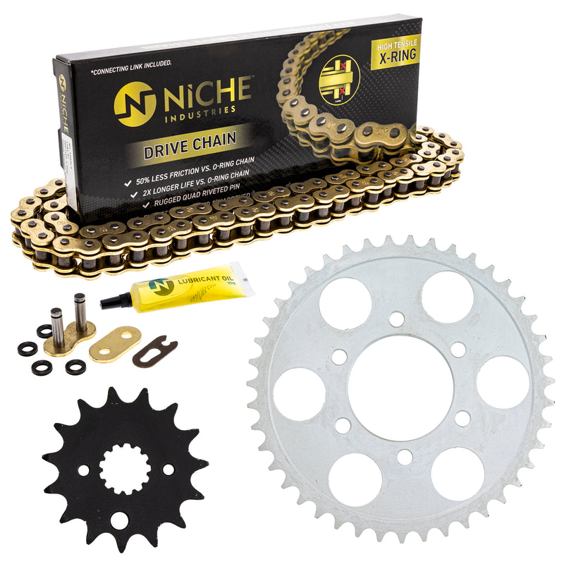 Drive Chain and Sprocket Kit for 110837307 110814453 GSXR750 NICHE MK53010601