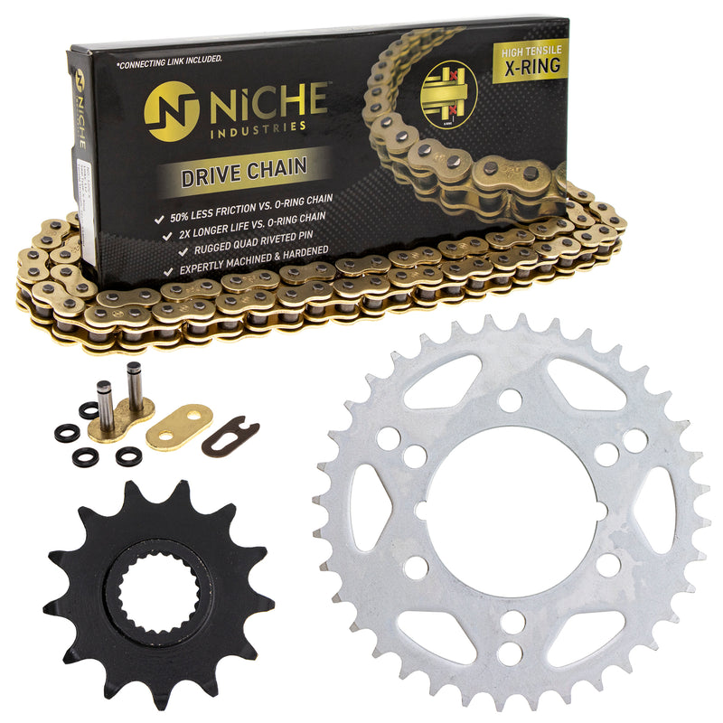 Drive Chain and Sprocket Kit for zOTHER Xplorer Trail-Blazer Scrambler 519-KCS1549K-K001 NICHE MK1005077