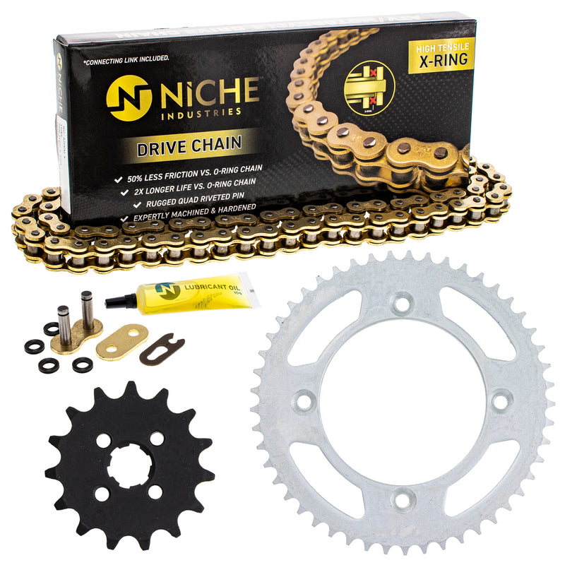 Drive Chain and Sprocket Kit for Honda CR80R NICHE MK42011401