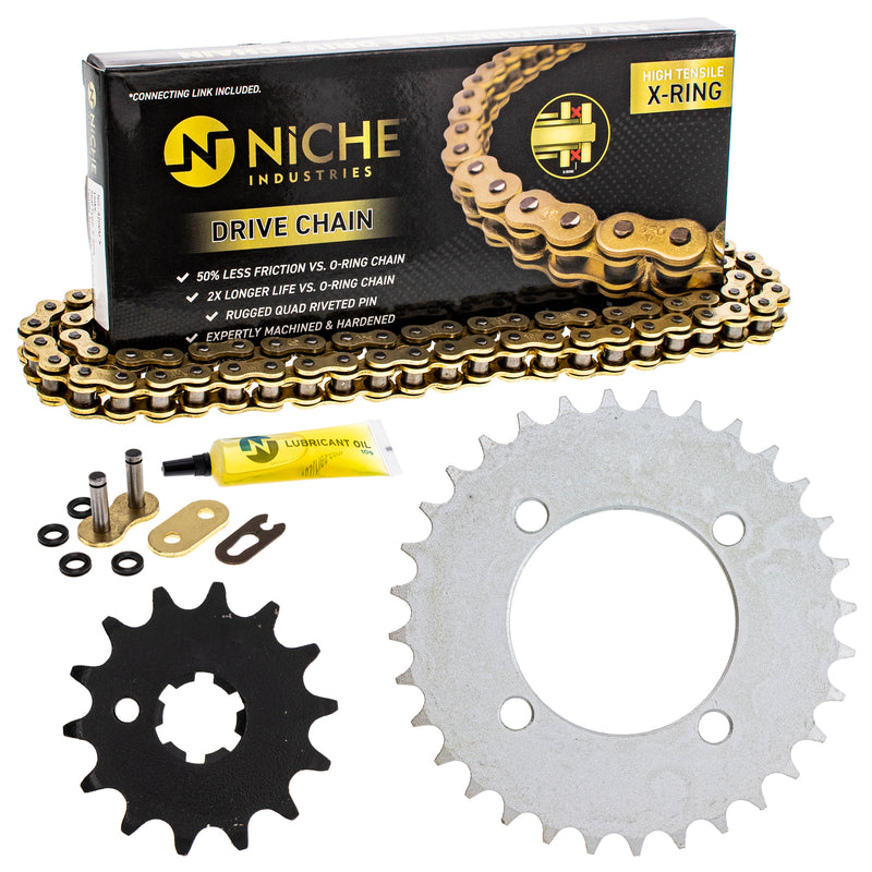 Drive Chain and Sprocket Kit for na 4BC-25432-50-00 93812-14035-00 93812-14814-00 NICHE MK1005091
