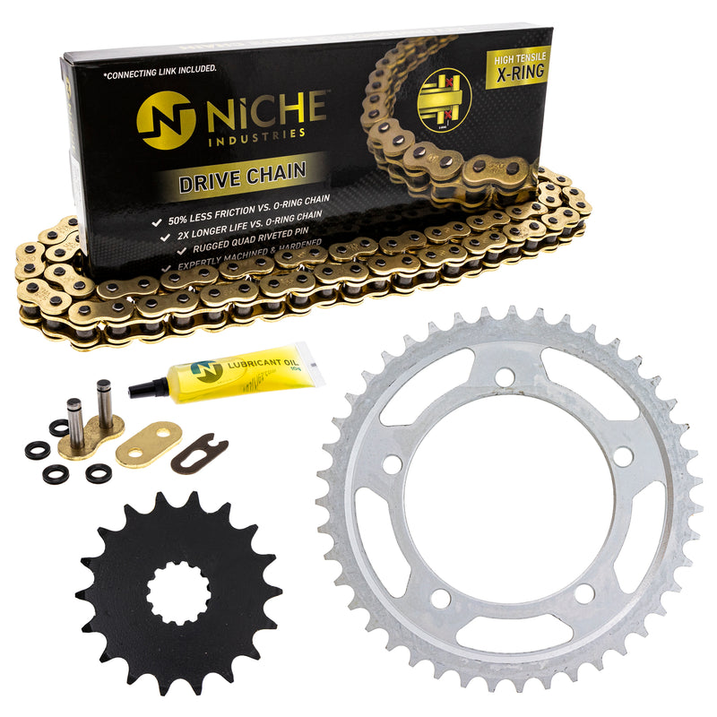 Drive Chain and Sprocket Kit for zOTHER Scrambler 519-KCS1564K-K001 NICHE MK1005092