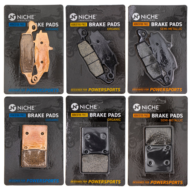 Brake Pad Set for Suzuki GS500F GS500E GS500 69100-01820 59102-33810 NICHE MK1113PAD