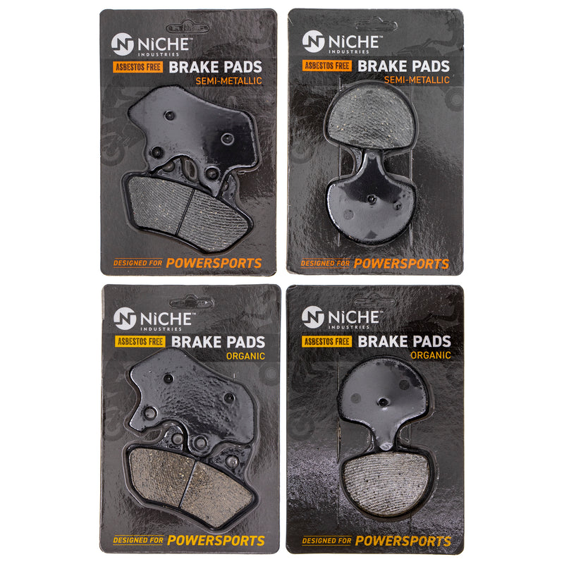 Brake Pad Set for Harley Davidson Softail Heritage 44082-00E 44063-83D NICHE MK1124PAD