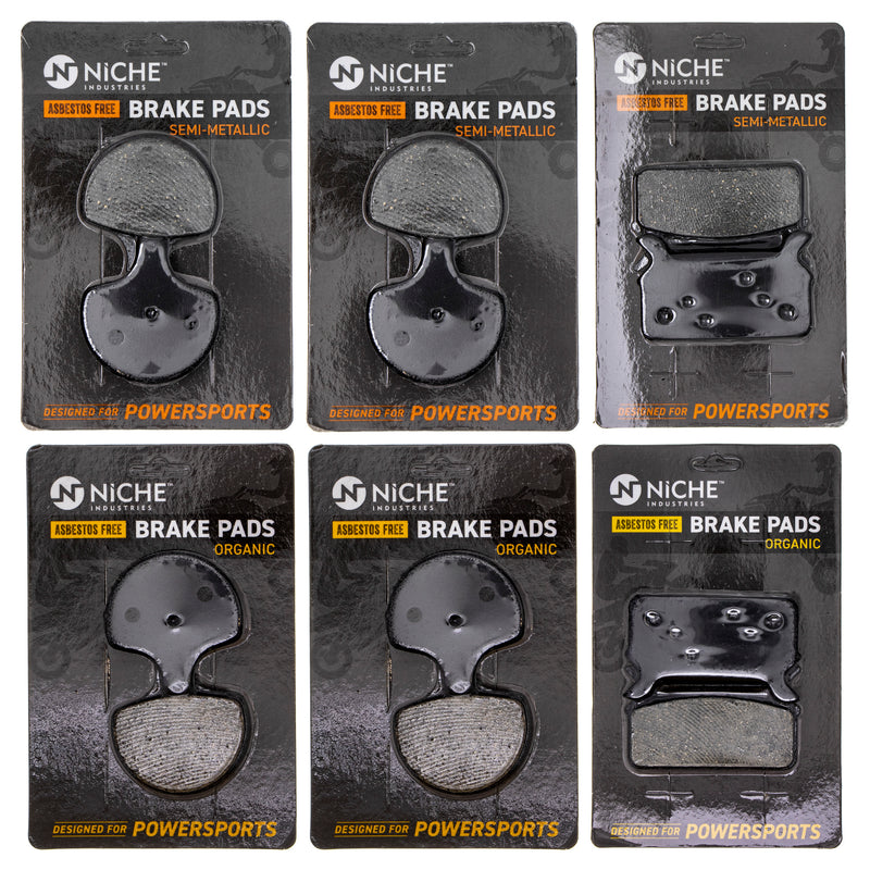 Brake Pad Set for Harley Davidson Tour Road Electra 44063-83D 43957-86F NICHE MK1167PAD