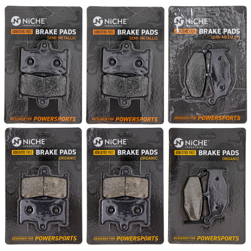 Brake Pad Set for Suzuki B-King 69100-15850 69100-15830 59100-23840 59100-23830 NICHE MK1183PAD