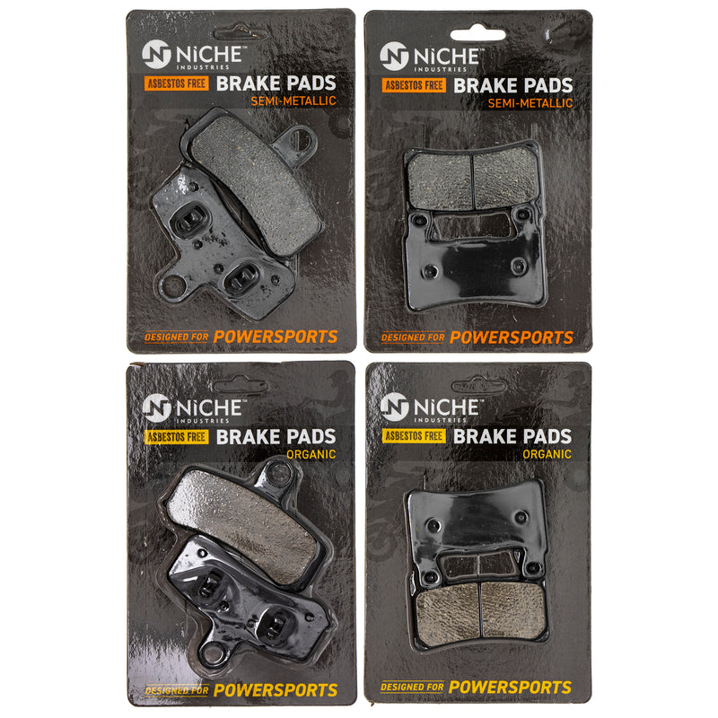 Brake Pad Set for Harley Davidson Softail Heritage Fatboy Breakout 42298-08 41300102 NICHE MK1186PAD