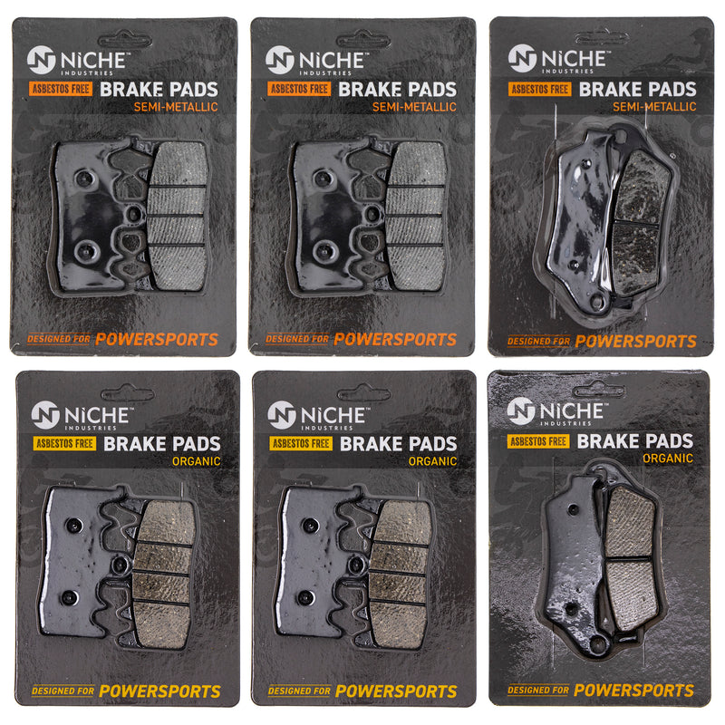 Brake Pad Set for BMW S1000XR R1200RT R1200R R1200GS 34212335465 34118548028 34218556442 NICHE MK1211PAD