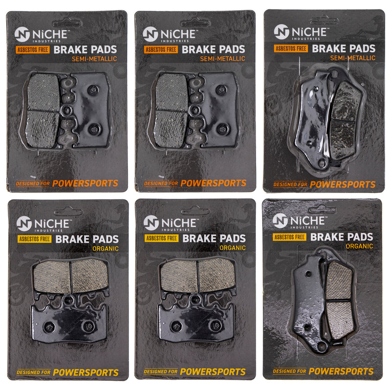Brake Pad Set for BMW R900RT R1200ST R1200S R1200RT 34212335465 34117671780 34117660448 NICHE MK1215PAD