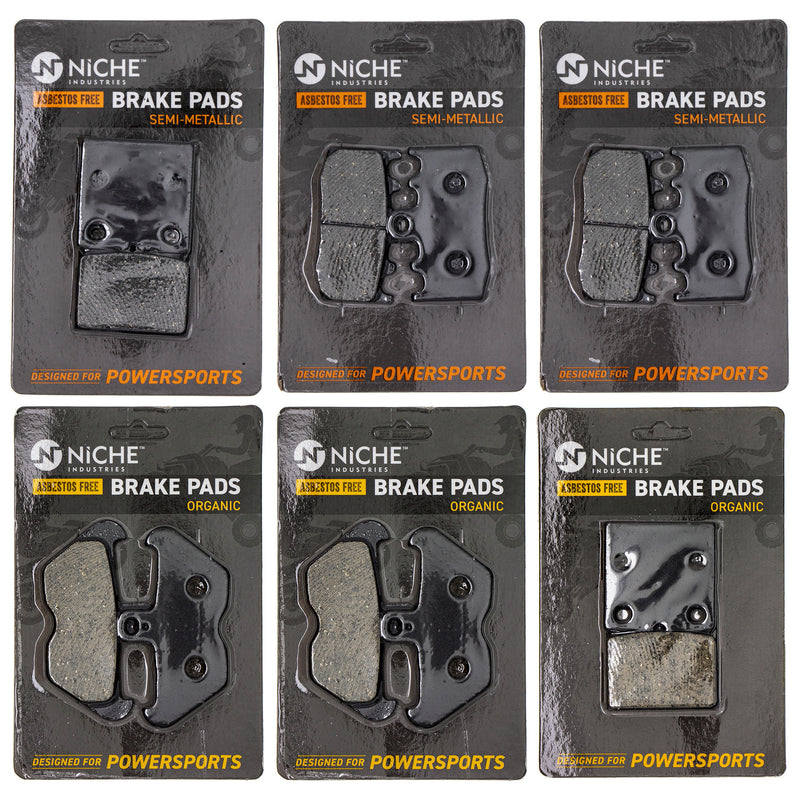 Brake Pad Set for BMW K1200RS K1200GT 34117660448 34217657025 NICHE MK1223PAD