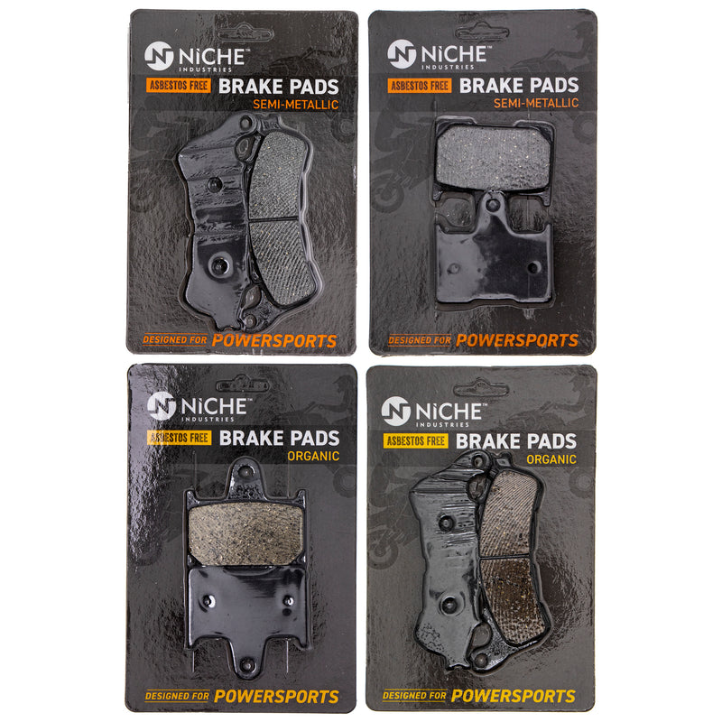 Brake Pad Set for zOTHER Honda Shadow 06455-MEG-H12 06455-MEG-H11 06435-MAZ-016 NICHE MK1229PAD