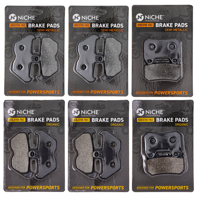 Brake Pad Set for BMW K1200LT 34117663764 34217680375 34117690169 NICHE MK1258PAD