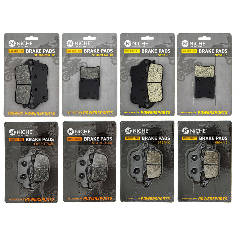 Brake Pad Set for zOTHER Honda VFR1200FD 06436-MEH-006 06455-MGE-016 06455-MGE-006 NICHE MK1284PAD