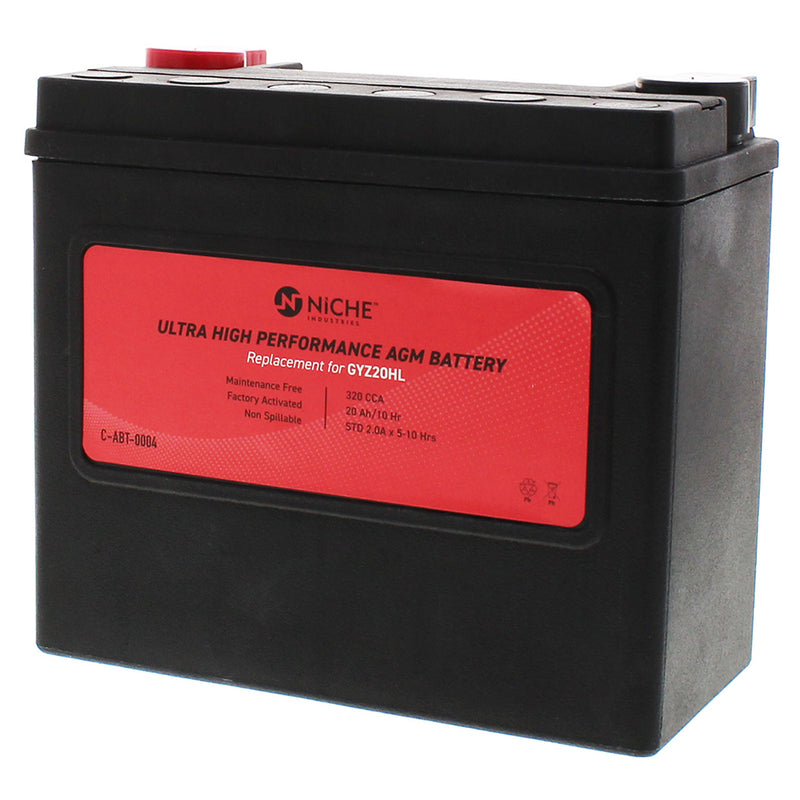 GYZ20HL AGM Battery (Factory Activated) for Yuasa Harley Davidson V-Rod Street Sportster NICHE 519-CAB2226T