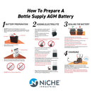 NICHE Sealed AGM Battery 1982-2018 Arctic Cat Kawasaki Polaris Yamaha
