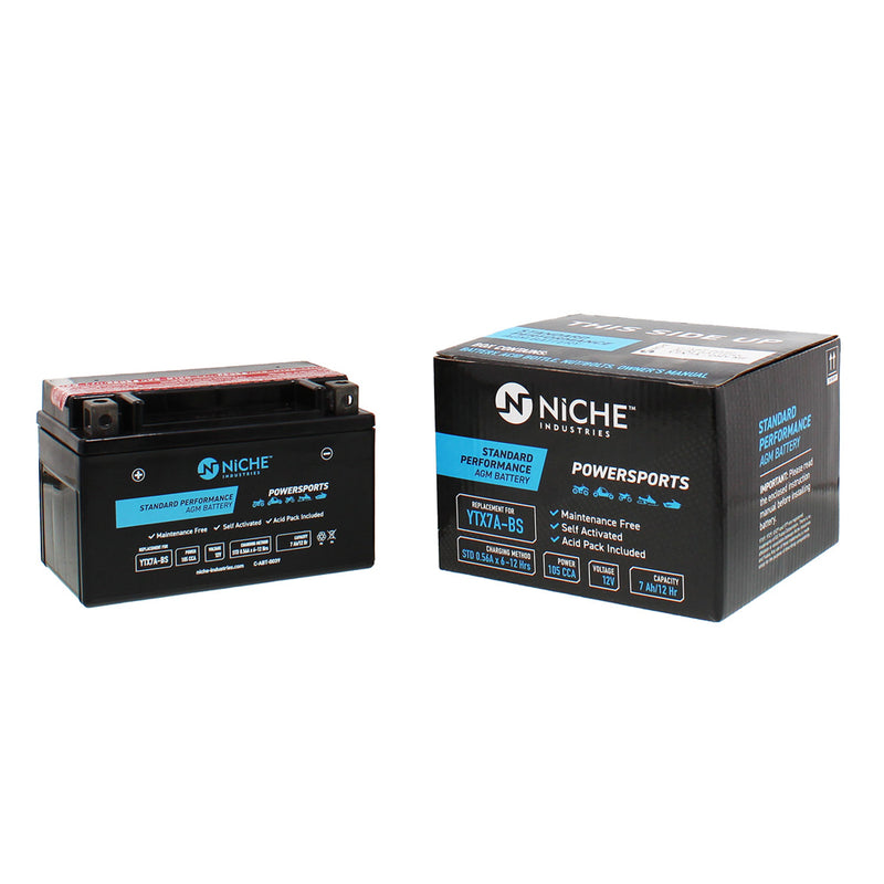 NICHE Maintenance Free Battery YTX7A-BS GTX-7ABS0-00-00