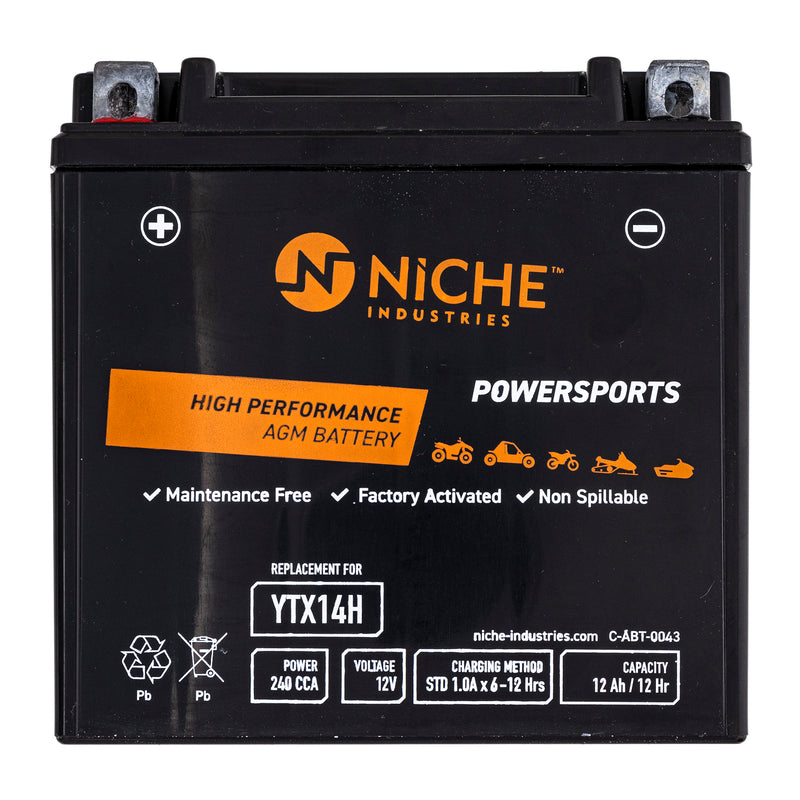 NICHE Maintenance Free Battery YTX14H YTX-14BS0-00-00