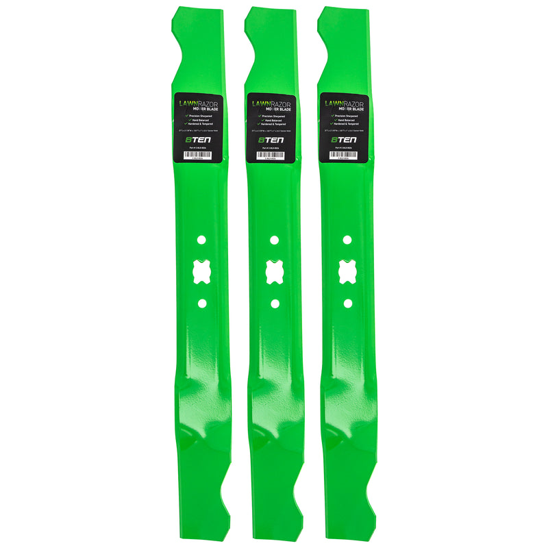 LawnRAZOR Lawn Mower Mulching Blade set 3-Pack for zOTHER Stens Snapper Oregon MTD Cub 8TEN 810-CBL2248D