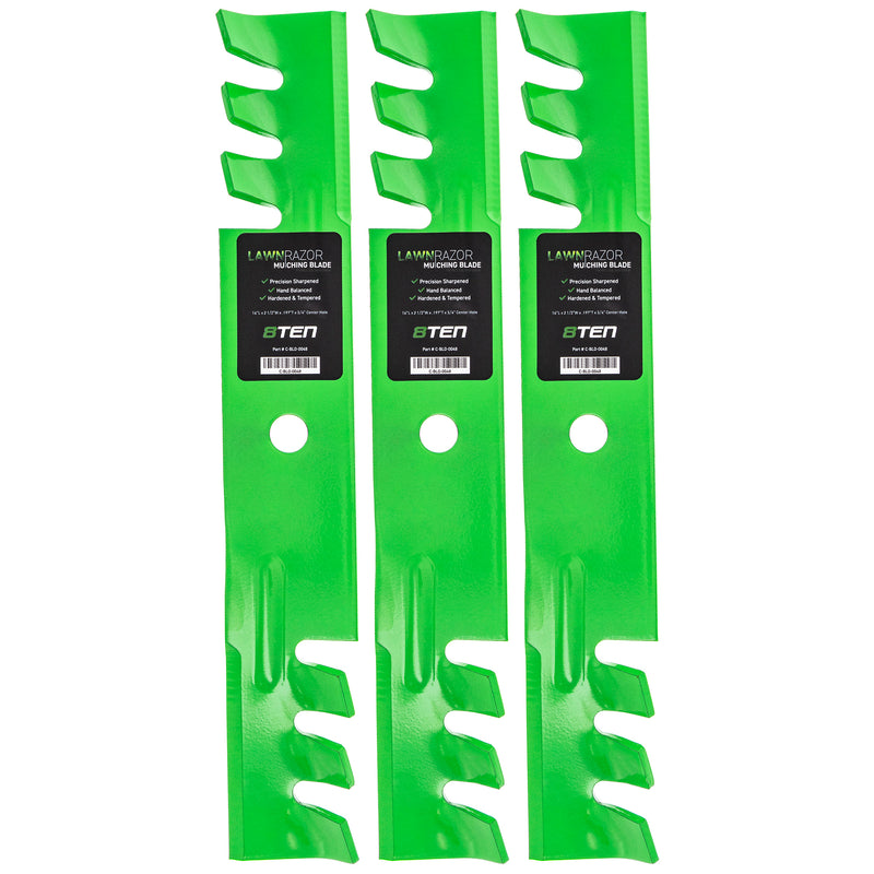 LawnRAZOR Mulching Lawn Mower Blade set 3-Pack for zOTHER Walbro Oregon MTD Cub Cadet 8TEN 810-CBL2260D